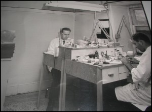 Henri Rotsaert at a workstation